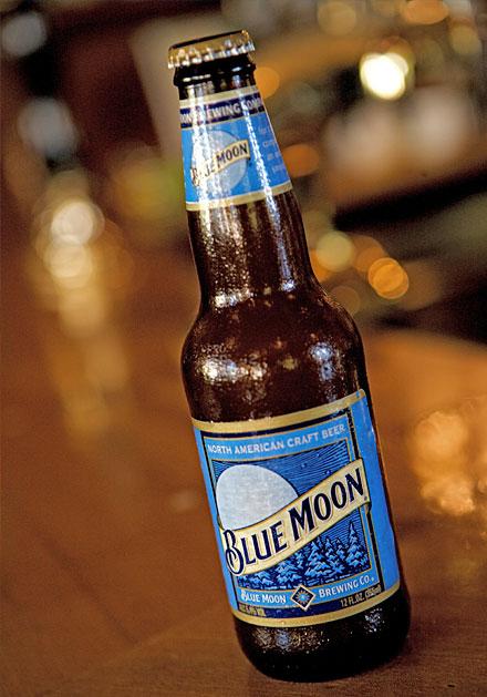 Blue Moon Beer Bottle